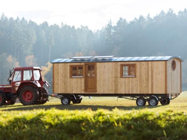 Tiny houses minihaus auf r dern im zirkuswagen stil for Minihaus bausatz